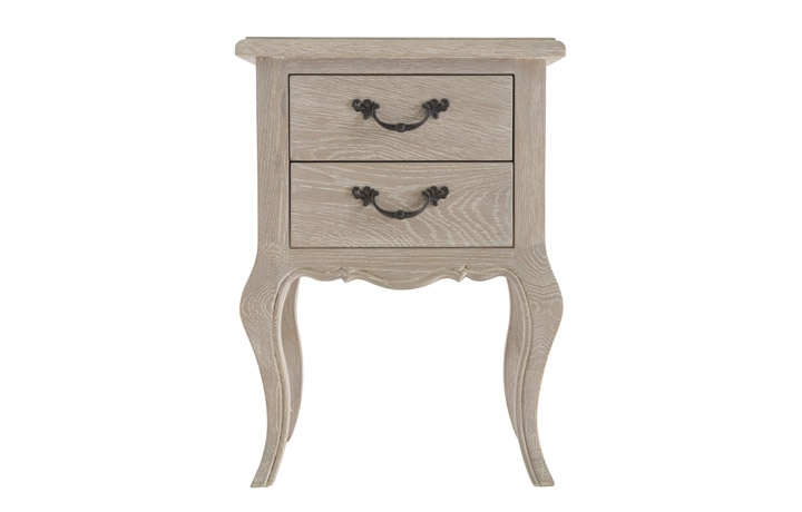 Blanchir Oak Furniture Collection - Blanchir Oak 2 Drawer Bedside