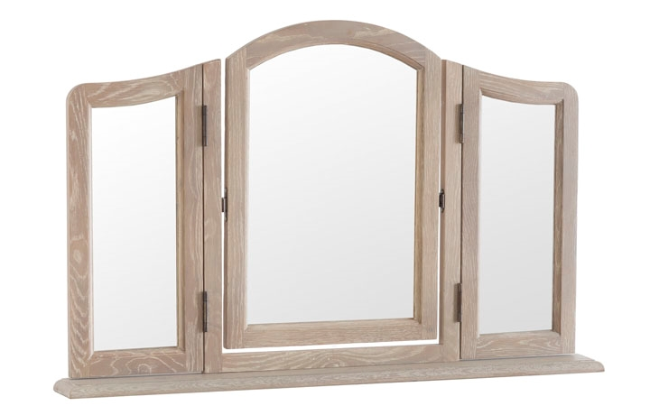 Blanchir Oak Furniture Collection - Blanchir Oak Triple Dressing Table Mirror