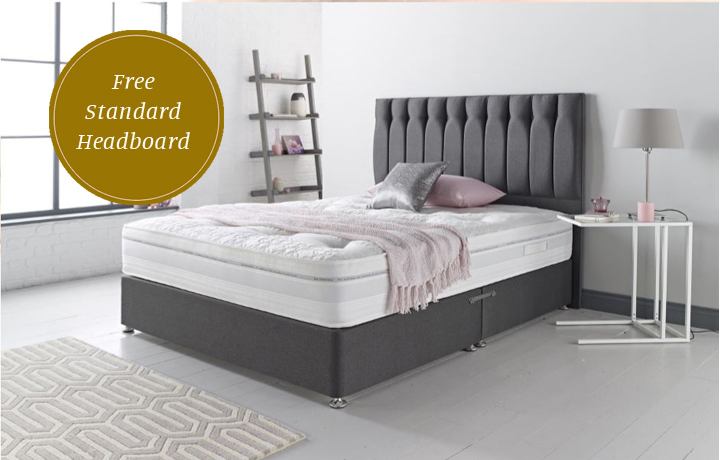 6ft Super King Mattress & Divan Special Offers - 6ft Super King Size Diplomat 1000 Mattress With 2 Drawer Bases
