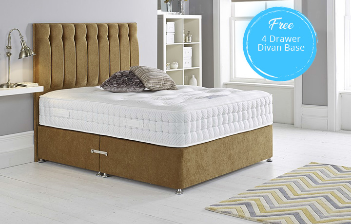 t Double Mattress & Divan Special Offers - 4'6ft Double Opulence 3000 Mattress With a FREE 4 Drawer Divan Base