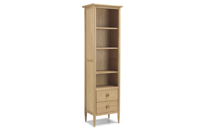 Bookcases - Nordic Solid Oak Slim Bookcase