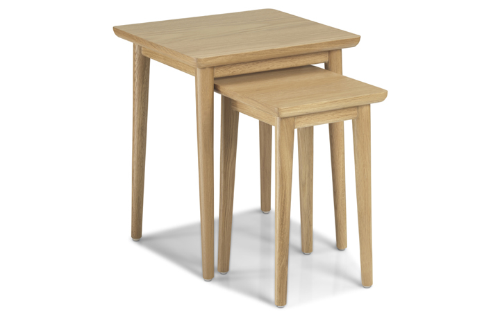 Nordic Solid Oak Collection - Nordic Solid Oak Nest Of 2 Tables