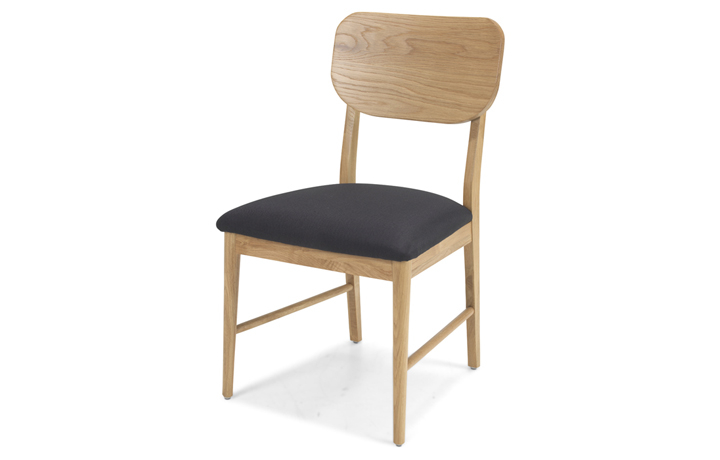 Nordic Solid Oak Collection - Nordic Solid Oak Dining Chair With Pad