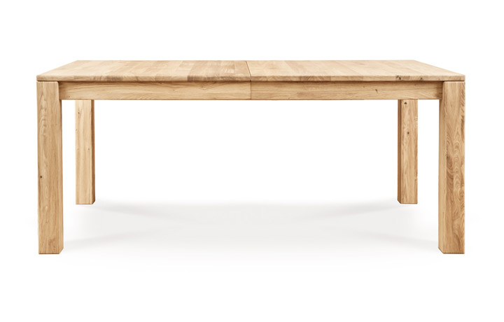 Natures Oak Collection - Natures Solid Oak 135cm Extending Dining Table With 1 x 500mm Leaf