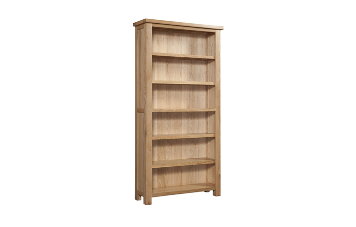 Bookcases - Lavenham Oak 6ft Bookcase