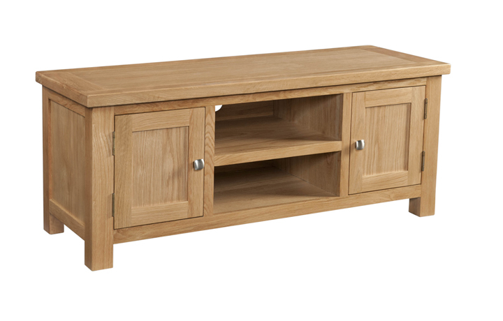 TV Cabinets - Lavenham Oak Large TV Unit