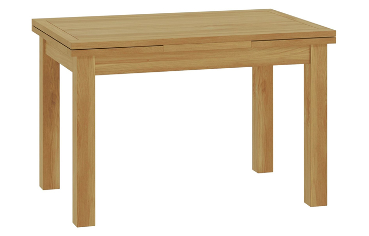 Dining Tables - Pembroke Oak 120-200cm Drawer Leaf Extending Dining Table