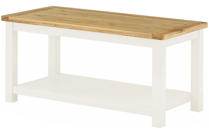 Coffee Tables - Pembroke White Painted Coffee Table
