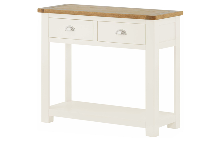 Pembroke White Painted Collection  - Pembroke White Painted 2 Drawer Console Table