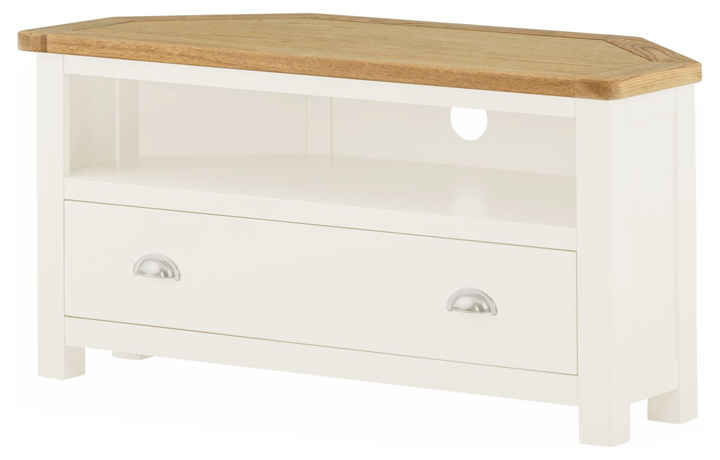 Pembroke White Painted Collection  - Pembroke White Painted Corner TV Cabinet