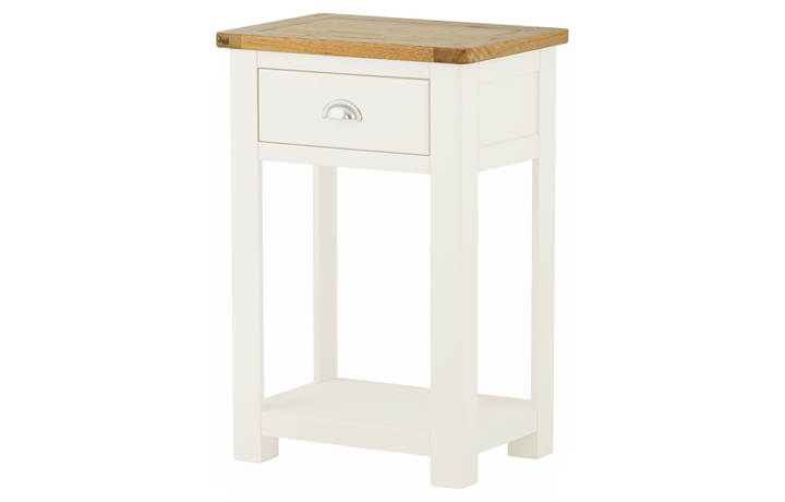 Consoles - Pembroke White Painted Small Console Table