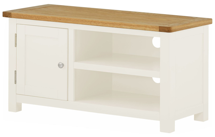 TV Cabinets - Pembroke White Painted TV Cabinet