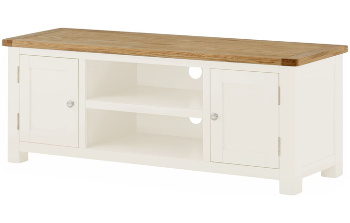 TV Cabinets - Pembroke White Painted Large TV Cabinet