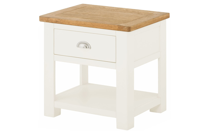 coffee-tables - Pembroke Lamp Table with Drawer-white