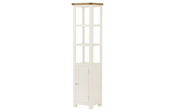 bookcases - Pembroke White Painted Shelf Unit With Cupboard