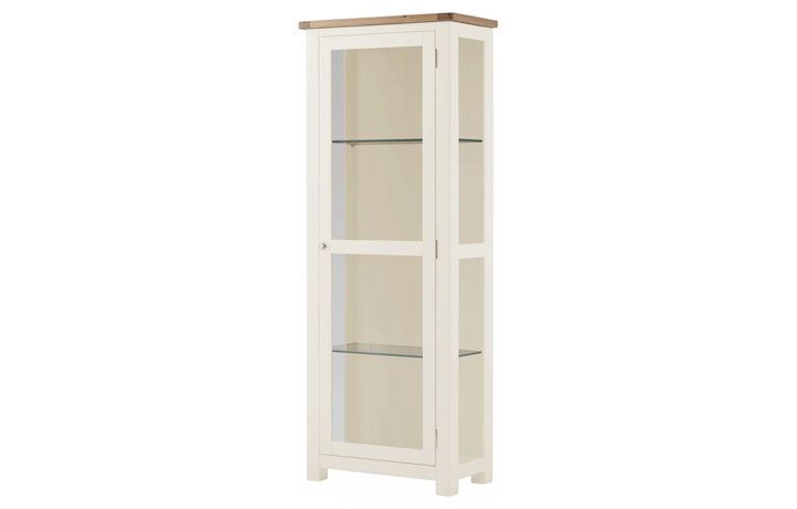 Display Cabinets - Pembroke White Painted Glazed Display Cabinet