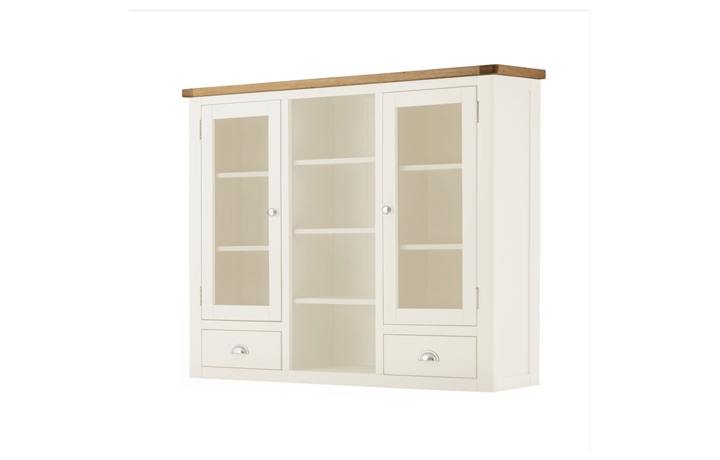 Dresser Tops & Larder Units - Pembroke White Painted Glazed Dresser Top