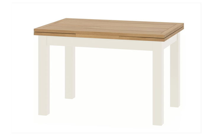 dining-tables - Pembroke White Painted Drawer Leaf Dining Table