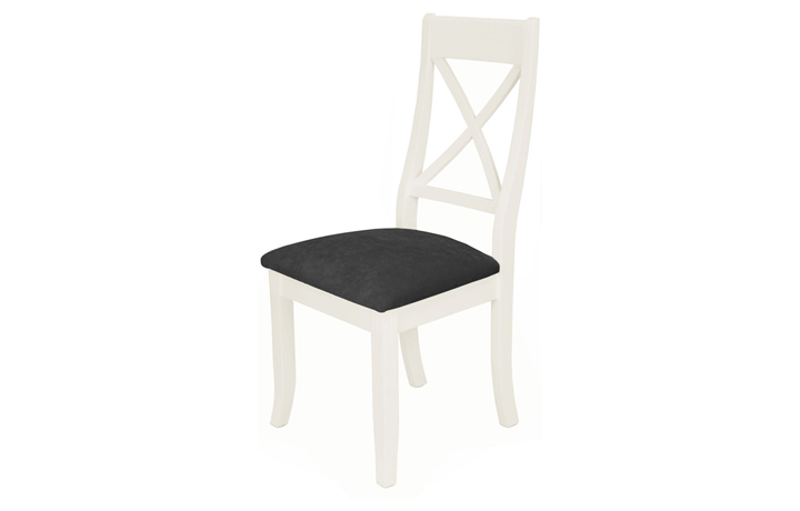 Chairs & Bar Stools - Pembroke White Painted X-Back Dining Chair