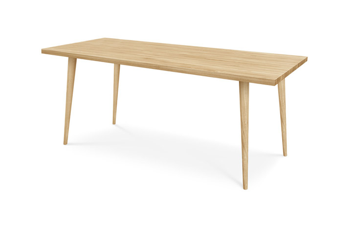 Dining Tables - Sigala Oak 180cm Dining Table With Wood Legs