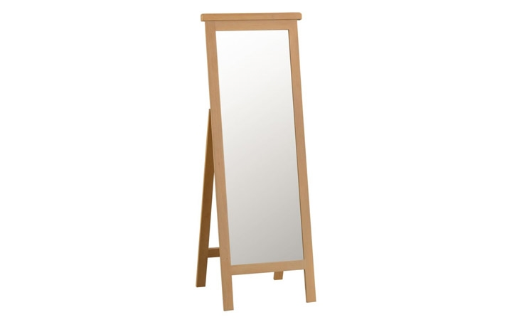 Burford Rustic Oak Collection - Burford Rustic Oak Cheval Mirror