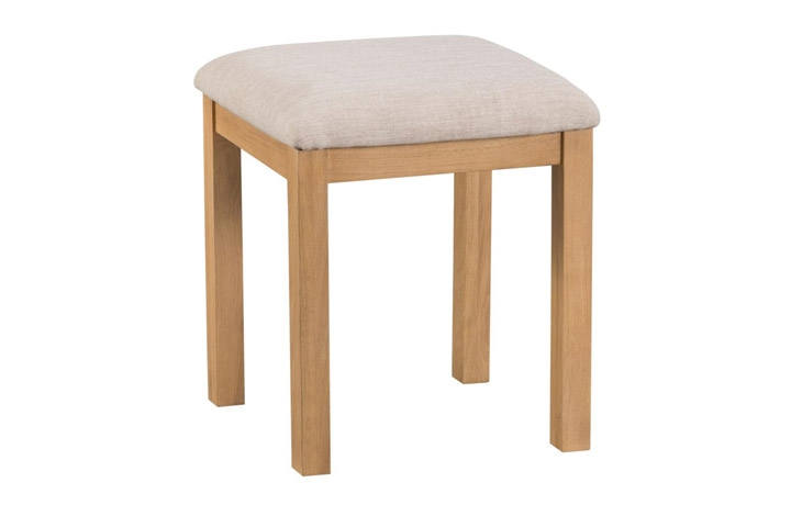 Burford Rustic Oak Collection - Burford Rustic Oak  Dressing Table Stool