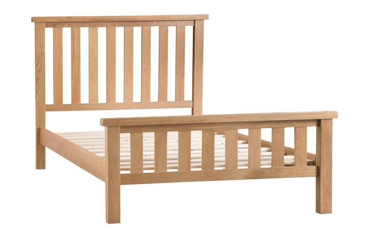 Bed Frames - 6ft Burford Rustic Oak King Size Bed Frame