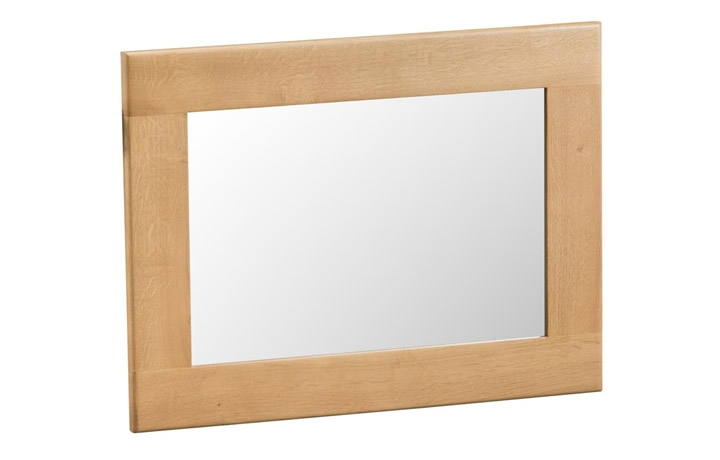 Burford Rustic Oak Collection - Burford Rustic Oak  Large Wall Mirror