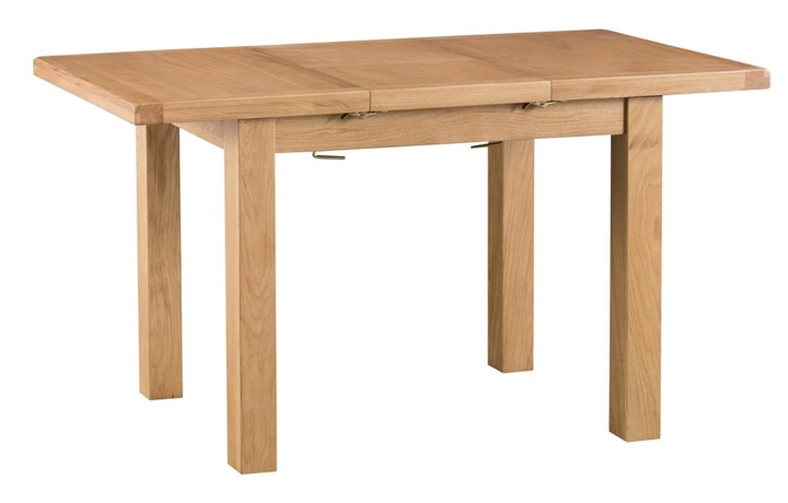 Dining Tables - Burford Rustic Oak 100cm Butterfly Extending Table