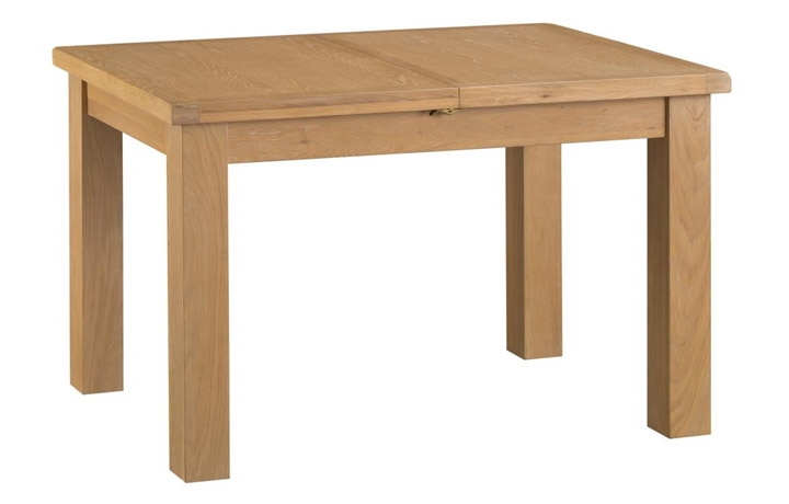 Dining Tables - Burford Rustic Oak 125cm Butterfly Extending Table
