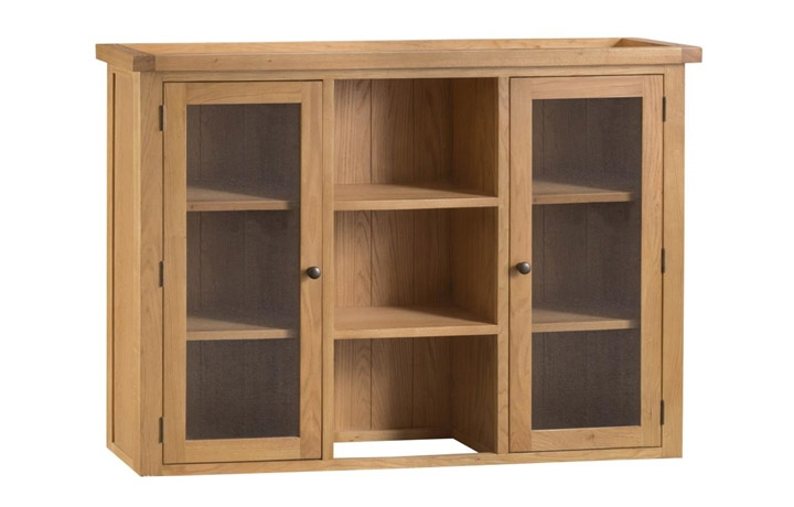Dressers - Burford Rustic Oak  Large Dresser Top