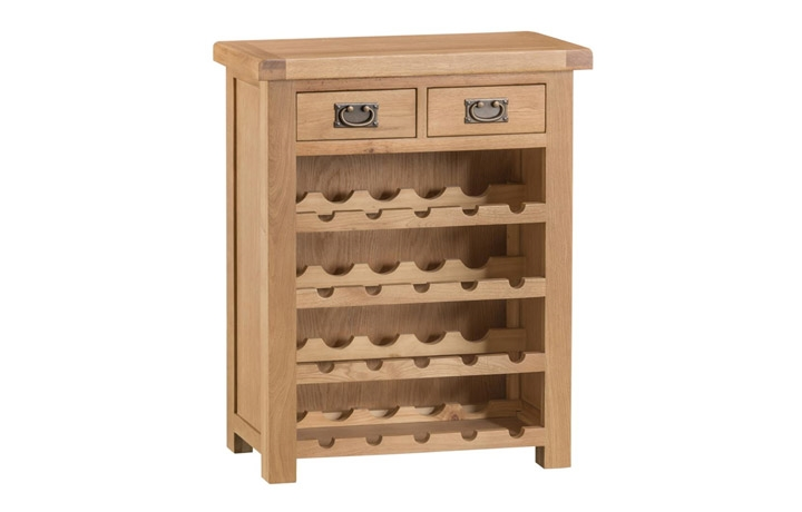 Burford Rustic Oak Collection - Burford Rustic Oak Small Wine Rack