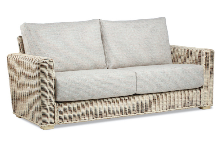 Burford Rattan Range in Natural Wash - Burford 3 Seat Sofa
