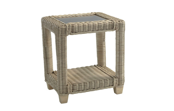 Burford Rattan Range in Natural Wash - Burford Side Table