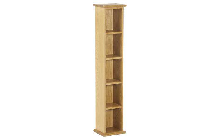 Bookcases - Origin Oak Single DVD Tower