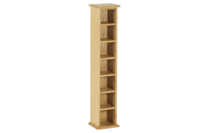 Bookcases - Origin Oak CD Tower