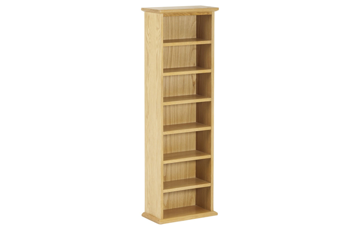 Bookcases - Origin Oak Double CD Tower