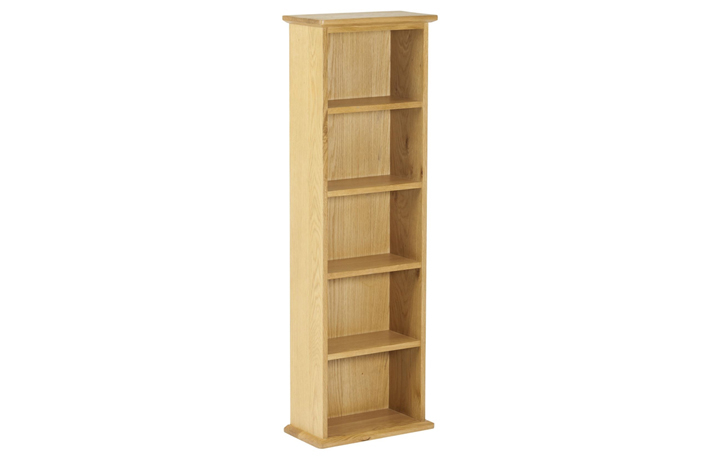 Bookcases - Origin Oak Double DVD Tower