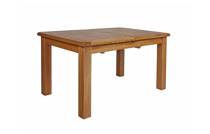 dining-tables - Sussex Rustic Oak 120cm Extending Table