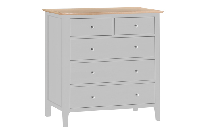 chest-of-drawers - Odense Grey Painted 2 Over 3 Chest