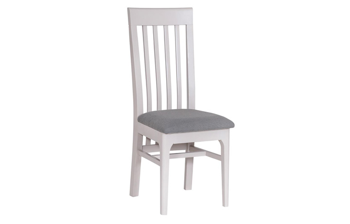 Odense Stone Painted Collection - Odense Stone Painted Slat Back Fabric Chair