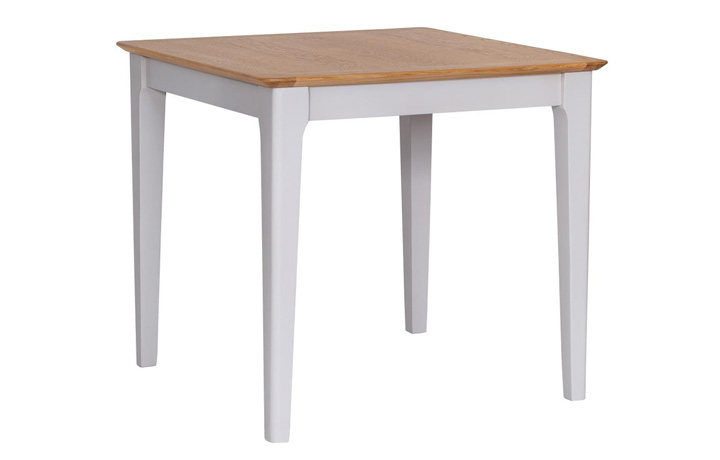 Dining Tables - Odense Stone Painted Small Fixed Top Table