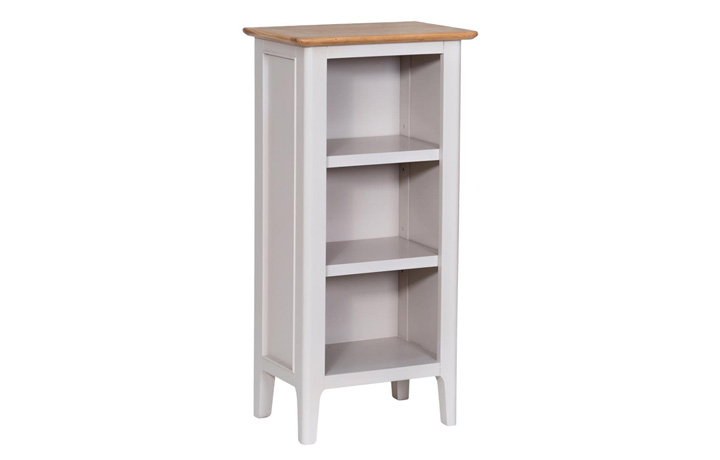 Bookcases - Odense Stone Painted Small Narrow Bookcase