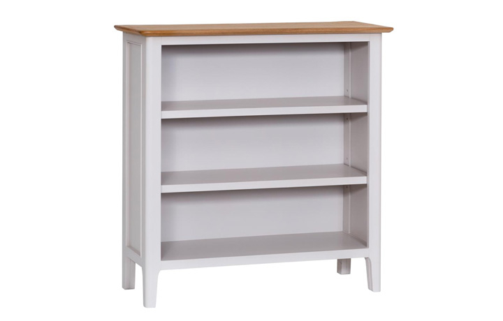 bookcases - Odense Grey Painted Small Wide Bookcase