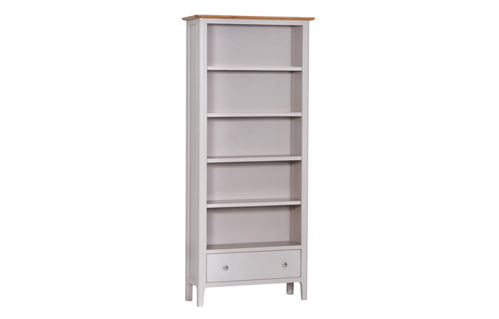 Bookcases - Odense Stone Painted Large Bookcase