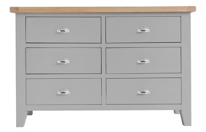 Chest Of Drawers - Regency Grey Painted 6 Drawer Chest