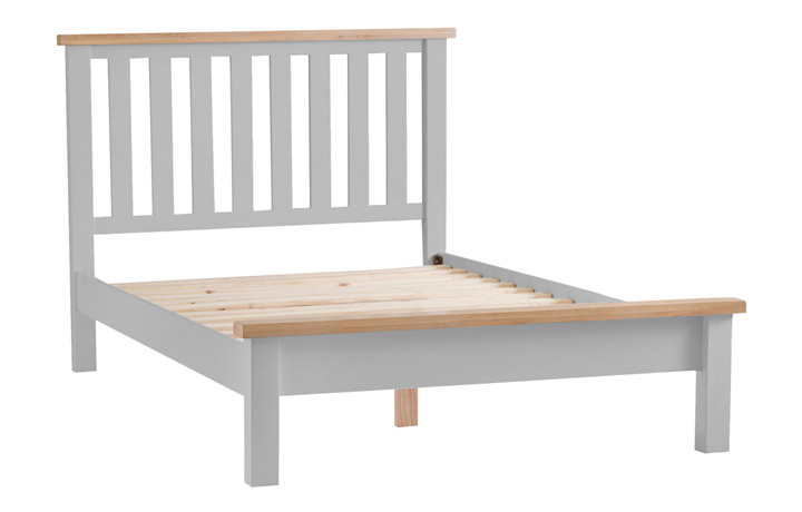 Beds & Bed Frames - Regency Grey Painted 4ft6 Double Bed Frame