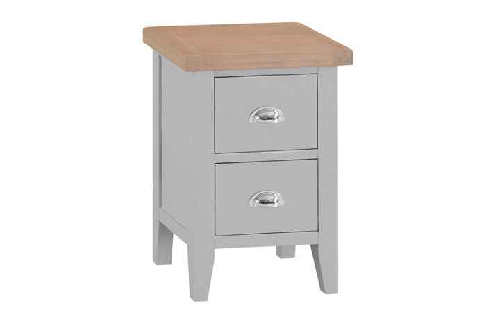 Regency Grey Painted Collection - Regency Grey Painted 2 Drawer Small Bedside