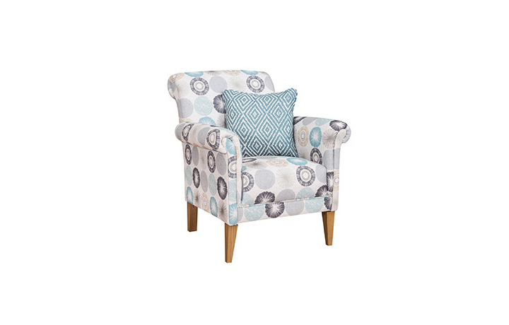 Accent Chairs & Stools - Keswick Fabric Accent Chair