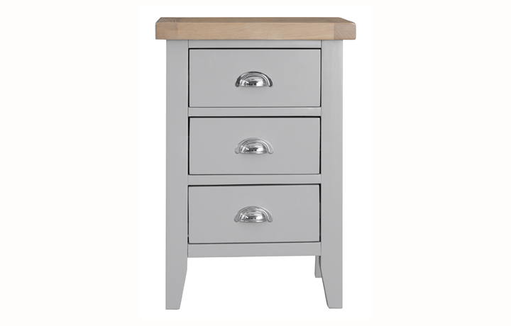 Regency Grey Painted Collection - Regency Grey Painted Large Bedside